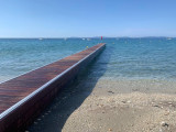 Fixed marine pontoon