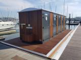 Floating sanitary facilities